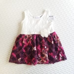 NWT The Children's Place Lace & Floral Dress 9-12M